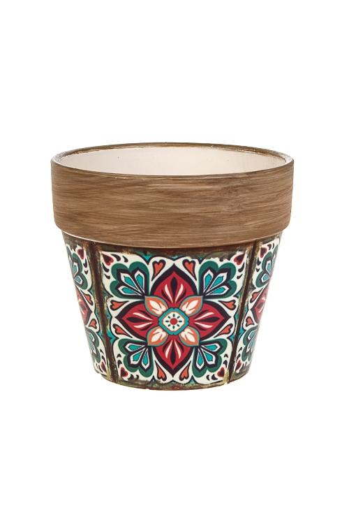 Кашпо для цветов ДамаскИнтерьер<br>14*9.5*13см, керам.<br>