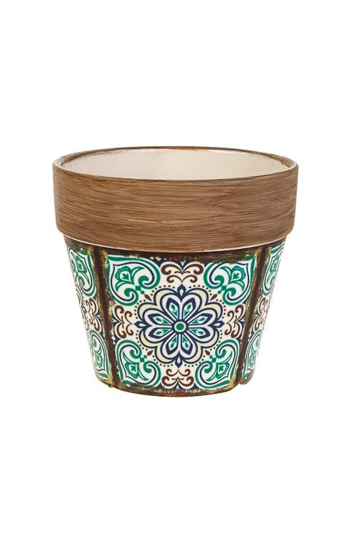 Кашпо для цветов АрабескаИнтерьер<br>14*9.5*13см, керам.<br>