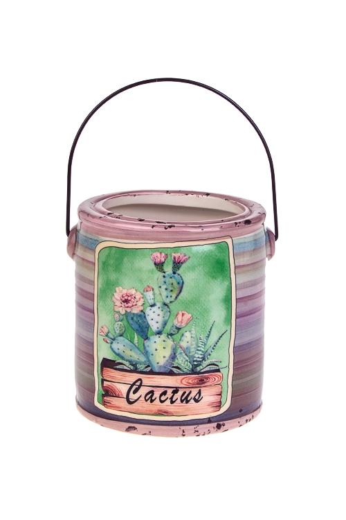 Кашпо для цветов КактусКерамические вазы и кашпо<br>10*11*11.5см, керам.<br>
