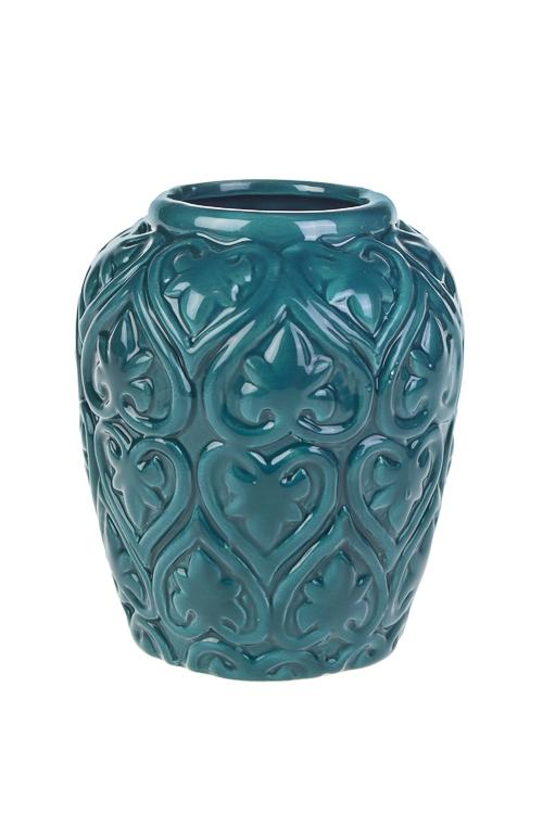 Ваза для цветов Цветы любвиКерамические вазы и кашпо<br>Выс=14см, доломит. керам., изумрудн.<br>