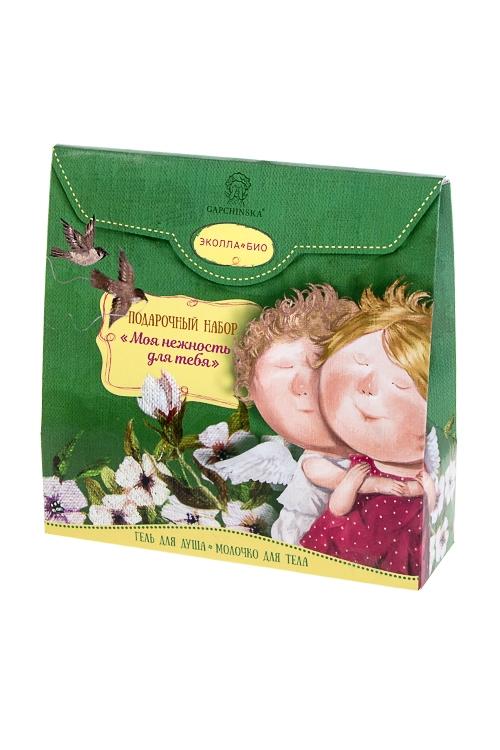 Набор подарочный Gapchinska - Моя нежность для тебяШкатулки и наборы по уходу<br>Молочко для тела, гель для душа<br>