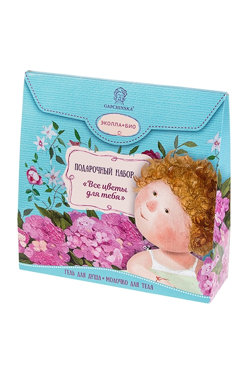 Набор подарочный Gapchinska - Все цветы для тебяШкатулки и наборы по уходу<br>Молочко для тела, гель для душа<br>