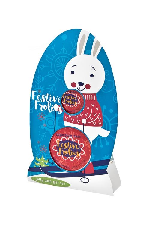 Набор косметический Кролик(бальзам для губ, крем для рук), аром. леденцов, печенья<br>
