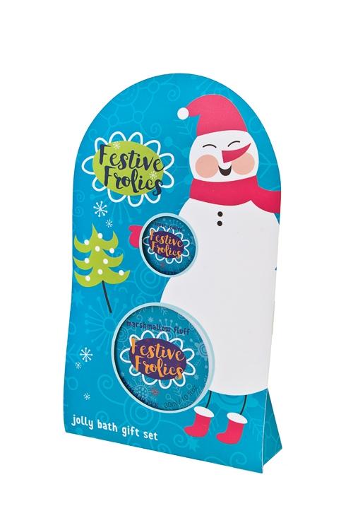 Набор косметический СнеговикНаборы для ванной<br>(бальзам для губ, крем для рук), аром. зефира, печенья<br>