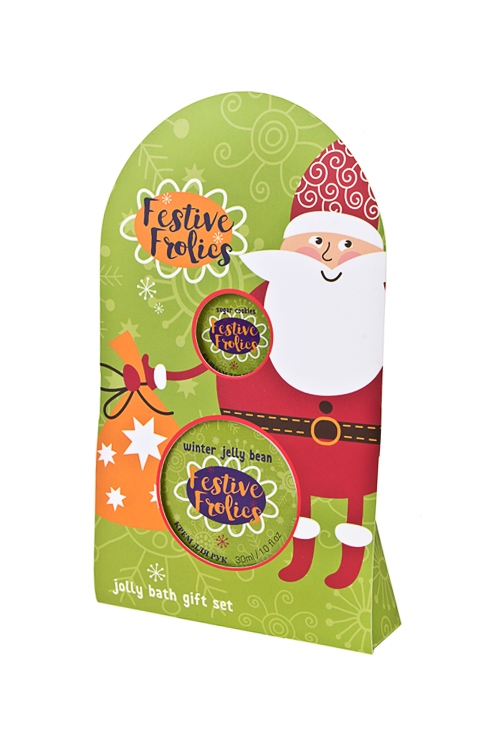 Набор косметический Дед МорозНаборы для ванной<br>(бальзам для губ, крем для рук), аром. мармелада, печенья<br>