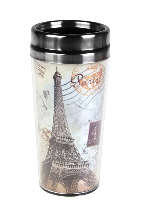 Термокружка с крышкой Прекрасный ПарижДача и Путешествия<br>420мл, с двойной стенкой, нерж., пласт.<br>