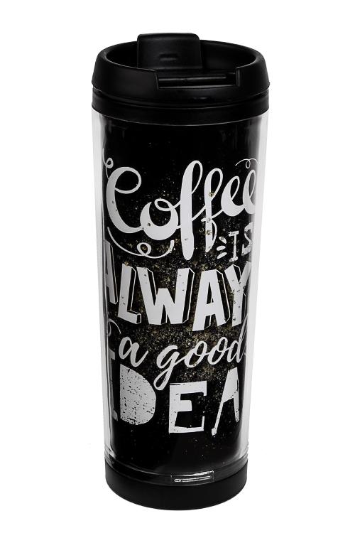 Термокружка Хорошая идеяТермокружки и стаканы для чая/кофе<br>350мл, нерж. сталь, пласт. (с двойными стенками и сменным декором)<br>