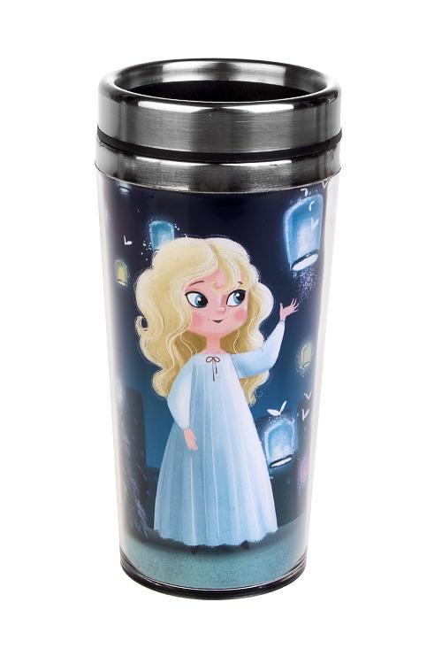 Термокружка с крышкой Волшебные друзьяТермокружки и стаканы для чая/кофе<br>420мл, нерж. сталь, пласт. (с двойными стенками)<br>