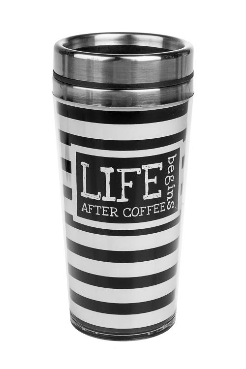 Термокружка с крышкой Новая жизньТермокружки и стаканы для чая/кофе<br>420мл, нерж. сталь, пласт. (с двойными стенками)<br>