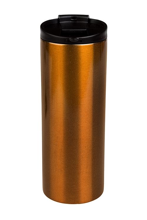 Термокружка с крышкой Золотой блескПосуда<br>400мл, с двойной стенкой, нерж. сталь<br>