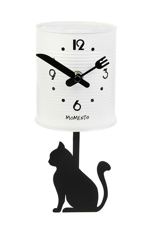 Часы настенные КотикЧасы Настенные<br>11*24см, металл, с маятником<br>