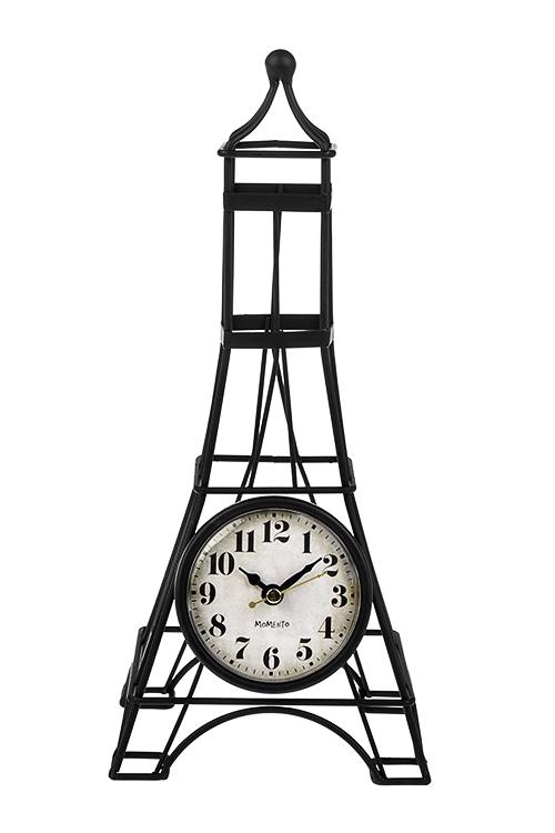 Часы настольные Эйфелева башняИнтерьер<br>13*10*30см, металл<br>