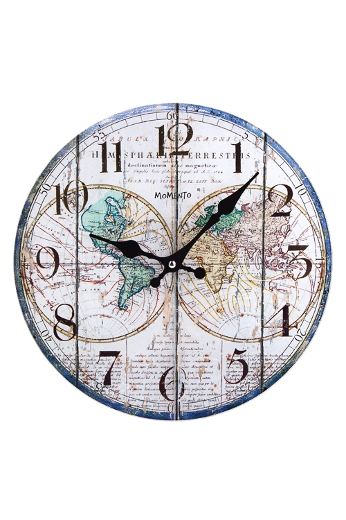 Часы настенные Карта мираИнтерьер<br>Д=30см, стекло<br>