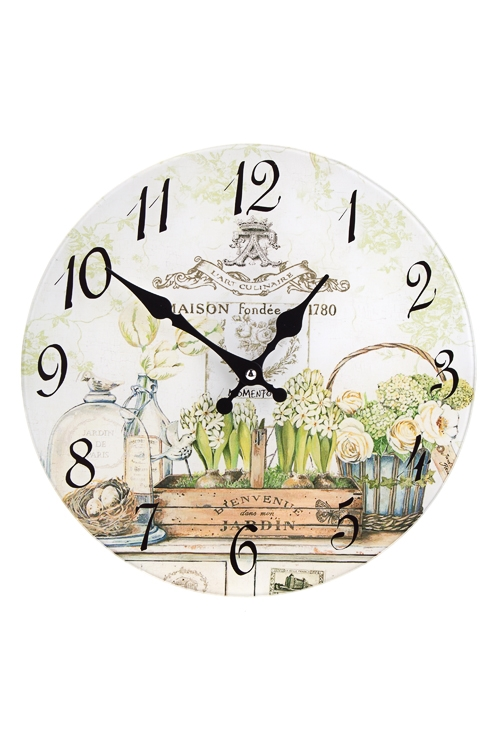 Часы настенные ОранжереяПодарки на 8 марта<br>Д=30см, стекло<br>