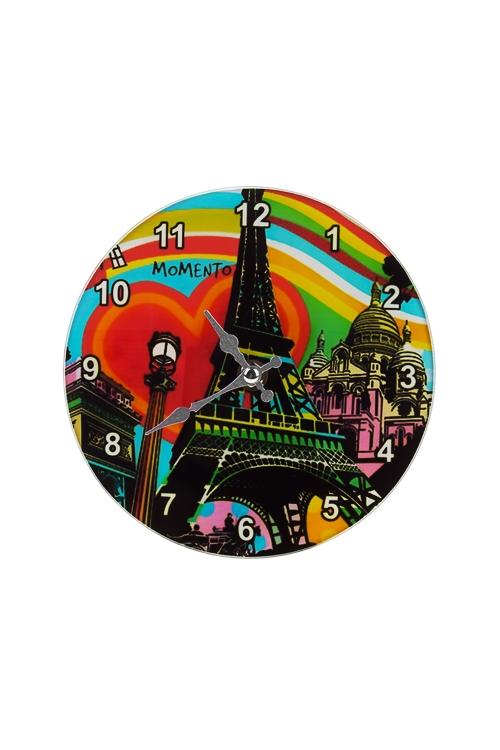 Часы настенные/настольные ПарижЧасы Настенные<br>Д=17см, стекло<br>