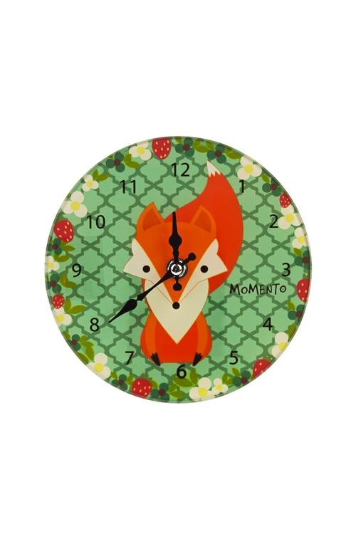 Часы настенные/настольные ЛисенокИнтерьер<br>Д=17см, стекло<br>