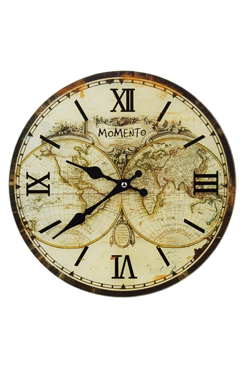 Часы настенные Карта мираЧасы Настенные<br>Д=30см, стекло<br>