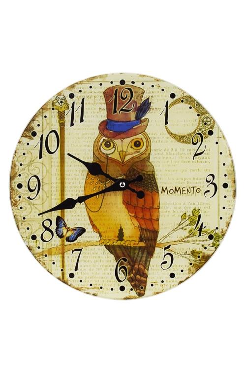 Часы настенные Мистер СоваЧасы Настенные<br>Д=30см, стекло<br>