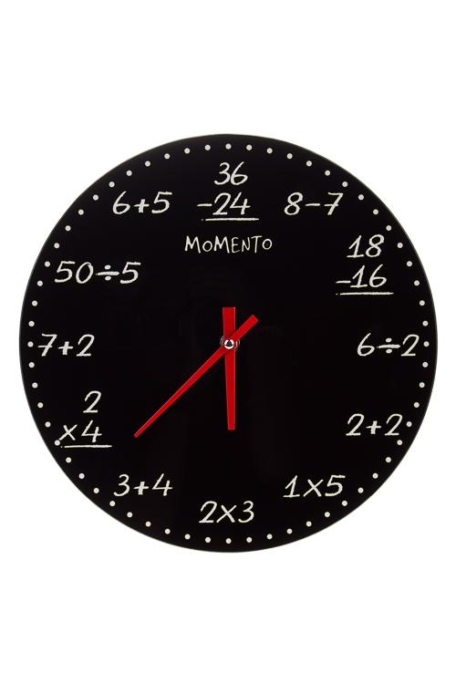 Часы настенные Формула времениЧасы Настенные<br>Д=30см, стекло<br>