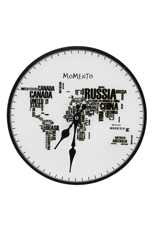 Часы настенные Страны-континентыЧасы Настенные<br>Д=30см, стекло<br>