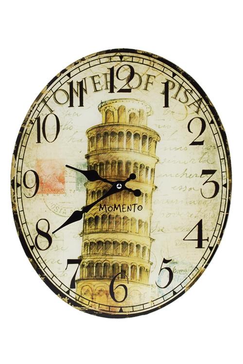 Часы настенные Пизанская башняИнтерьер<br>32*39см, стекло<br>