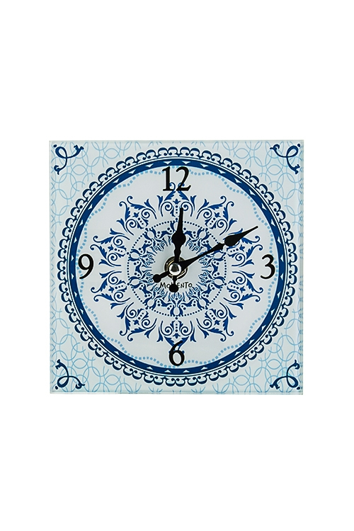 Часы настенные/настольные АрабескаИнтерьер<br>15*15см, стекло<br>