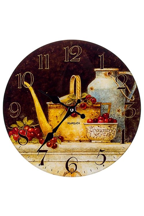 Часы настенные НатюрмортИнтерьер<br>Д=30см, стекло<br>