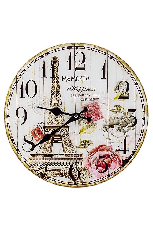 Часы настенные Романтика ПарижаЧасы Настенные<br>Д=30см, стекло<br>