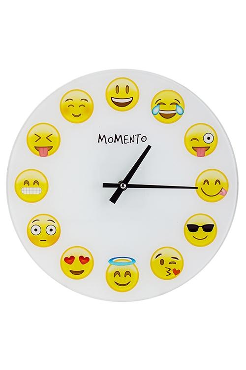Часы настенные ЭмодзиЧасы Настенные<br>Д=30см, стекло<br>