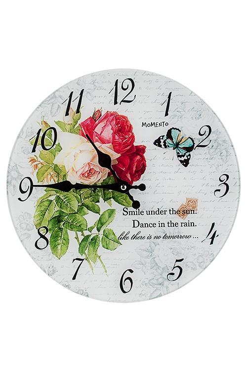 Часы настенные Моменты радостиИнтерьер<br>Д=30см, стекло<br>