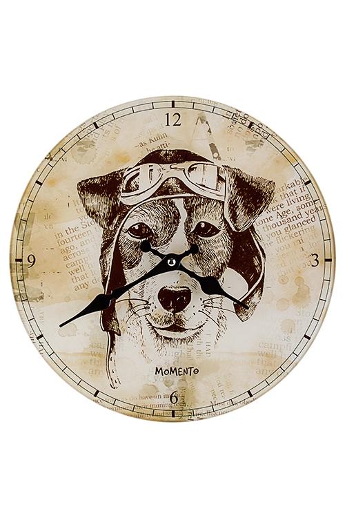 Часы настенные Пес СчастливчикЧасы Настенные<br>Д=30см, стекло<br>