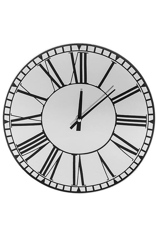 Часы настенные Зеркальный штрихПодарки начальнику/шефу<br>Д=30см, стекло, зеркальные<br>