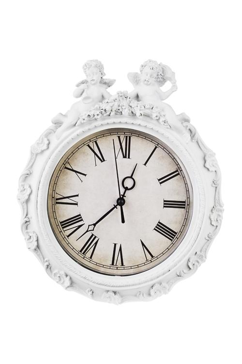 Часы настенные Старинные ангелочкиПодарки ко дню рождения<br>23.5*29см, полирезин, пластм.<br>