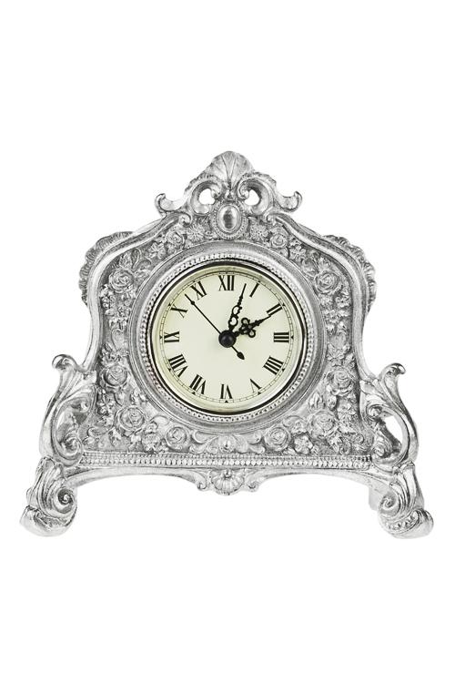 Часы настольные ВерсальИнтерьер<br>21*6.7*18.5см, полирезин, пластм.<br>