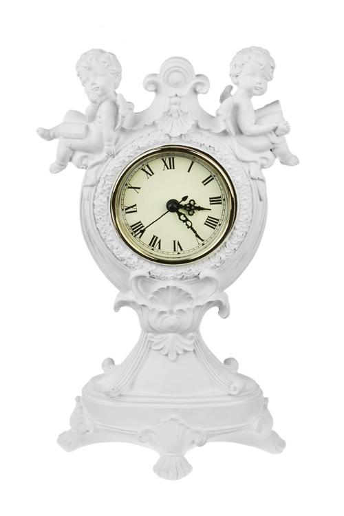 Часы настольные Милые ангелочкиИнтерьер<br>28*10*16см, полирезин, пластм.<br>