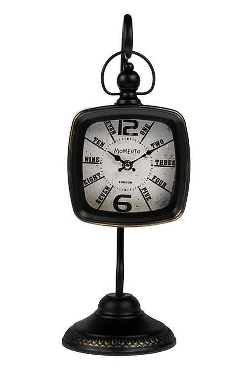 Часы настольные Классика времениИнтерьер<br>15*44см, металл, черные<br>