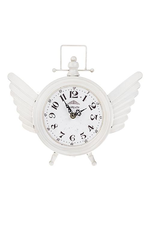 Часы настольные ТрепетИнтерьер<br>32*29см, металл, белые<br>