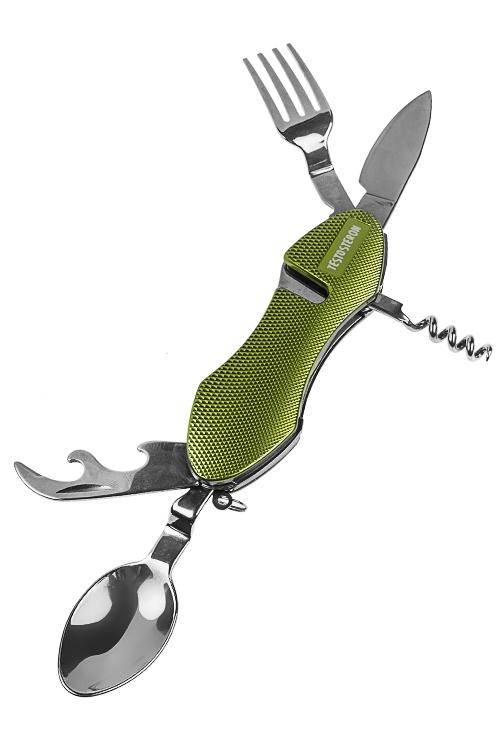 Мультитул 6 в 1 Завтрак туристаНаборы инструментов<br>Дл=11см, нерж. сталь, алюминий, с вилкой и ложкой<br>