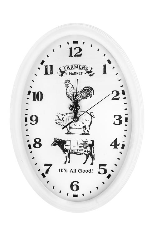Часы настенные Фермерский рынокИнтерьер<br>30*42см, МДФ, стекло<br>
