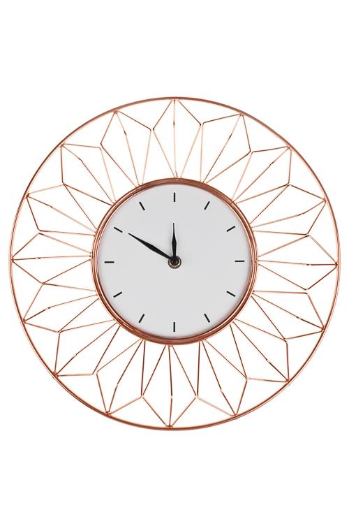 Часы настенные ГеометрияИнтерьер<br>Д=35см, металл, МДФ, пластм.<br>