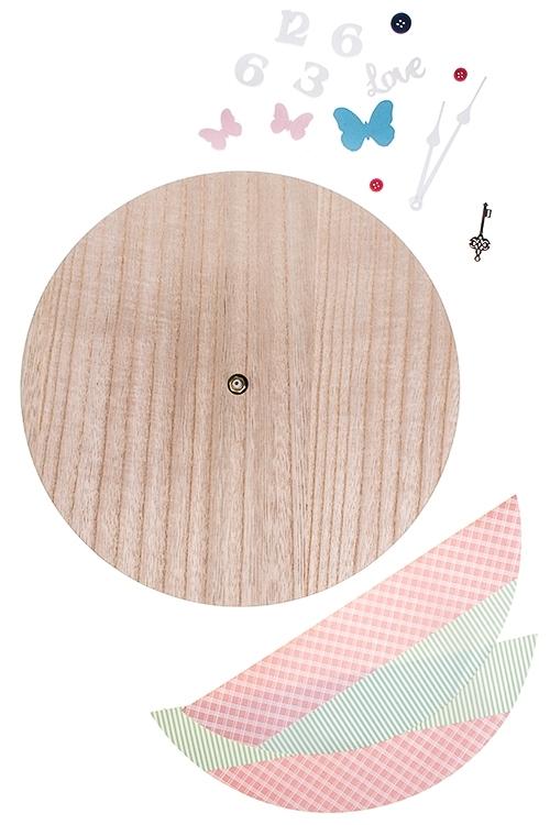 Часы настенные Сделай самИнтерьер<br>Д=30см, МДФ, пластм., с аксессуарами<br>