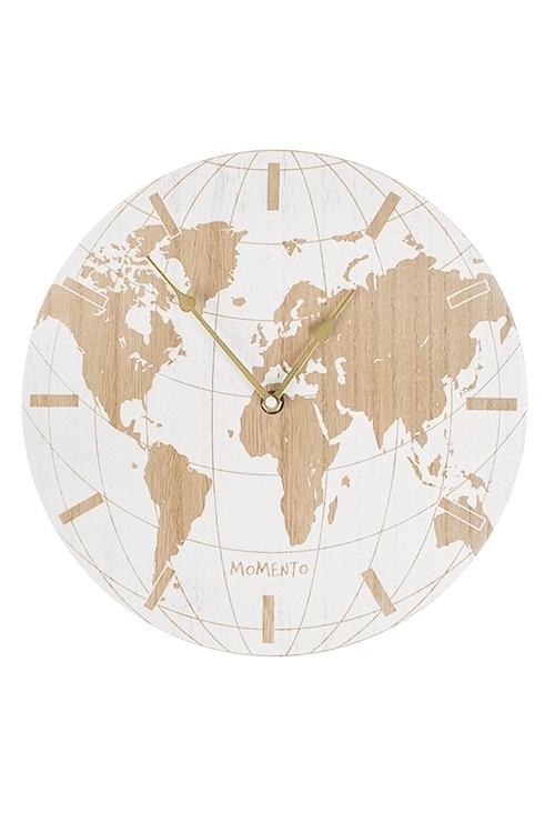 Часы настенные Карта мираИнтерьер<br>Д=30см, МДФ, металл, пластм.<br>