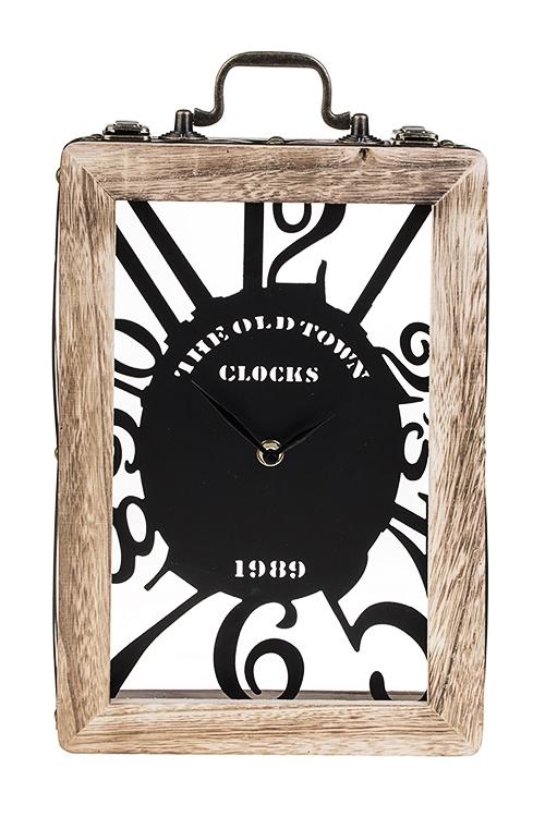 Часы настольные ЧемоданчикИнтерьер<br>32*22*7.5см, МДФ, металл<br>