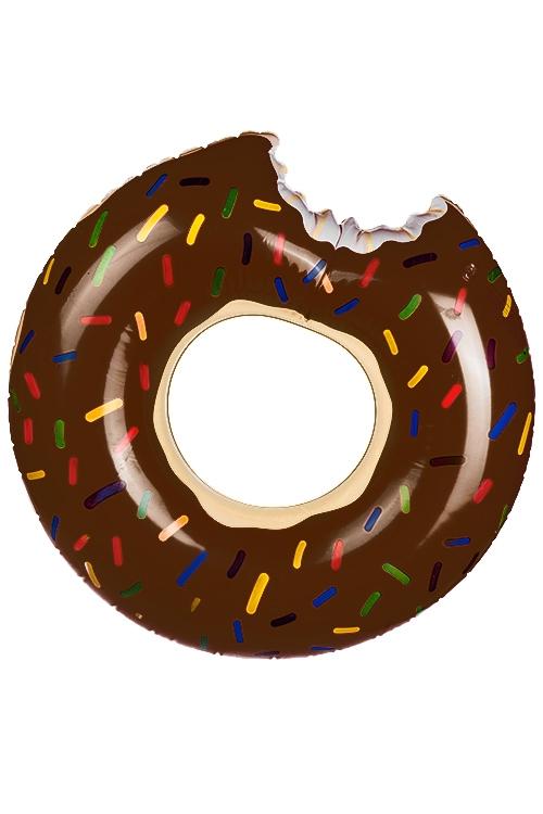 Круг надувной для купания Шоколадный пончикИгры на природе<br>Д=115см, ПВХ<br>