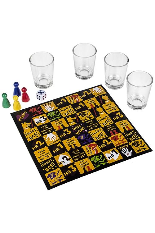 Игра настольная развлекательная для взрослых Пить или не питьПьяные игры<br>Со стопками, стекло, пластм.<br>