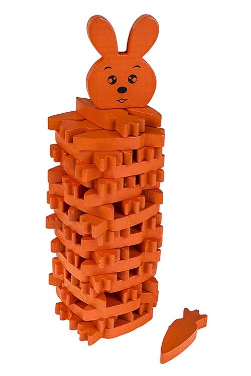 Игра настольная развлекательная Дженга - морковкиНастольные игры для детей и взрослых<br>19*7см, дерево<br>
