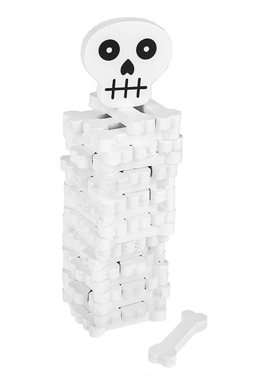 Игра настольная развлекательная Дженга - череп и костиНастольные игры для детей и взрослых<br>19*7см, дерево<br>