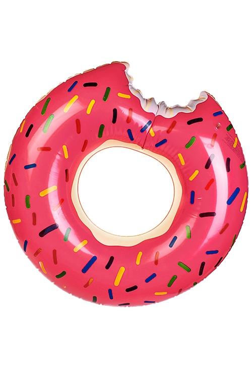 Круг надувной для купания Клубничный пончикИгры на природе<br>Д=115см, ПВХ<br>