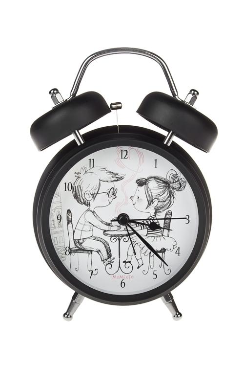 Часы настольные СвиданиеИнтерьер<br>12*17см, металл, с будильником, с подсветкой<br>