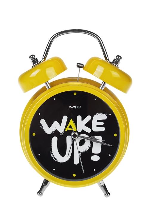 Часы настольные ПодъемИнтерьер<br>12*17см, металл, с будильником, с подсветкой<br>